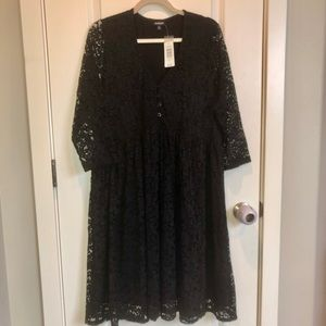 NWT Torrid Black Lace Dress